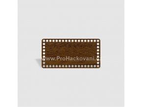 Dno na košík obdélník 24x12 cm ořech, jednostranný dekor