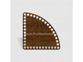 Dno na košík kruhová výseč 20 cm ořech, jednostranný dekor
