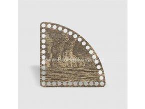 Dno na košík kruhová výseč 25 cm dub šedý, jednostranný dekor