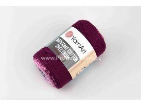 Macrame Cotton Spectrum 1314 bílá, fialová, růžová