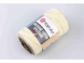 Macrame Cotton Spectrum 1301 žlutá, hnědá, krémová