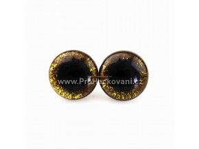 Oči bezpečnostní třpytivé zlaté 16 mm