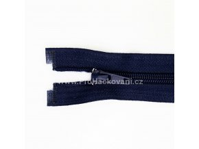 Spirálový zip dělitelný 20 cm tmavě modrý
