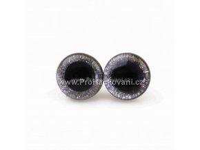 Oči bezpečnostní třpytivé stříbrné, 14 mm