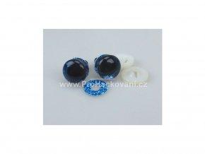 Oči bezpečnostní třpytivé tyrkysové, 22 mm