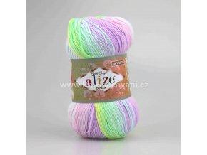 příze Bella Batik 2132 pastelový mix