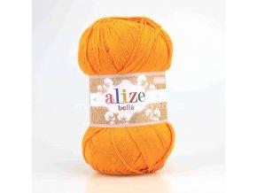 příze Bella 83 matná oranžová