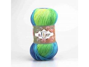 příze Bella Batik 4150 zeleno-modrá