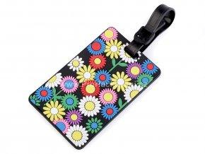 Jmenovka na kufr květiny