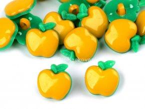 Knoflík jablíčko žluté