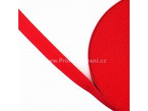 Popruh polypropylénový 2 cm červený