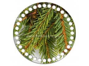 Dno s obrázkem kruh 15 cm smrkové větvičky