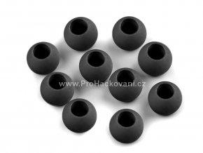Plastový korálek Ø 10x12 mm černý