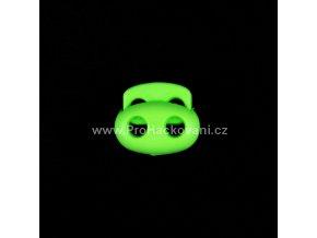 Brzdička dvoušňůrová velká zelený neon