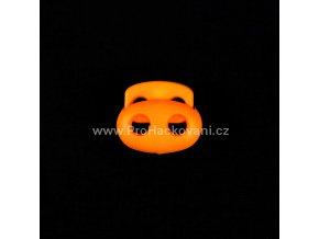 Brzdička dvoušňůrová velká světle oranžový neon