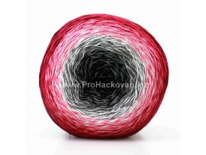 příze Floxy 9904 černá,šedá,bílá,světle růžová,tmavší růžová,vínová