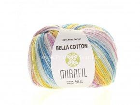 příze Bella Cotton Smart 508 odstíny modré, růžové, žluté