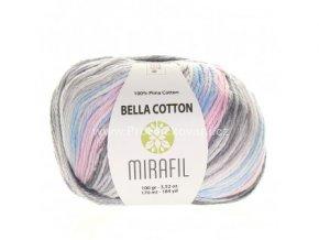 příze Bella Cotton Smart 507 pastelově šedá, modrá, růžová