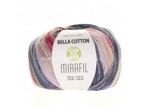příze Bella Cotton Smart 520 červená, modrá, zelená, béžová