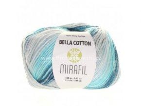 příze Bella Cotton Smart 516 odstíny tyrkysové s krémovou