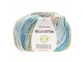příze Bella Cotton Smart 517 petrolejová, modrá, khaki, béžová