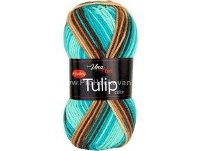 Tulip color 5215 variace krémové, béžové, hnědé, tyrkysové