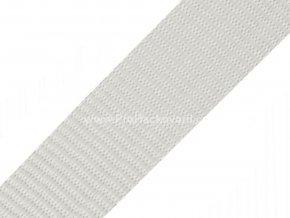 Popruh polypropylénový 4 cm světle šedý
