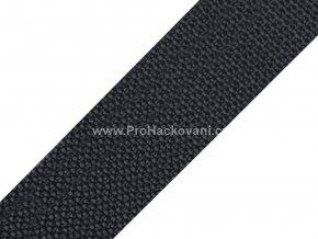 Popruh polypropylénový 4 cm tmavě šedý