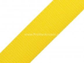 Popruh polypropylénový 4 cm žlutý