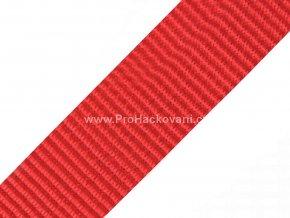 Popruh polypropylénový 4 cm červený