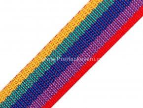 Popruh polypropylénový 4 cm barevný