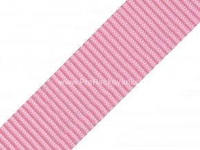 Popruh polypropylénový 4 cm světle růžový