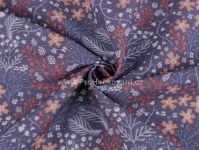 Dekorační látka květy Loneta