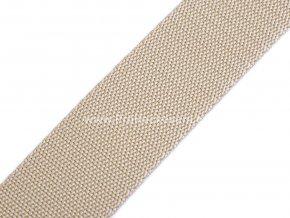 Popruh polypropylénový 4 cm béžový