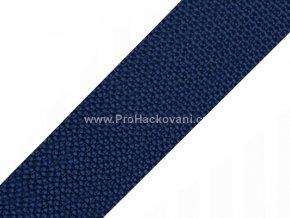 Popruh polypropylénový 4 cm tmavě modrý