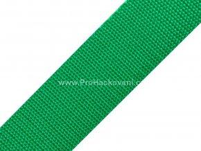 Popruh polypropylénový 4 cm smaragdově zelený