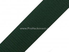 Popruh polypropylénový 4 cm tmavě zelený