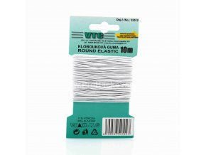 Klobouková guma 1,2 mm - na kartě bílá