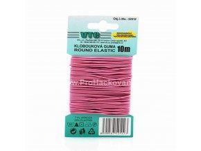 Klobouková guma 1,2 mm - na kartě růžová