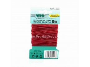 Klobouková guma 1,2 mm - na kartě červená