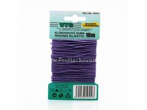 Klobouková guma 1,2 mm - na kartě fialová