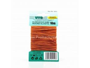 Klobouková guma 1,2 mm - na kartě oranžová