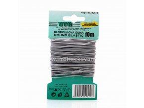 Klobouková guma 1,2 mm - na kartě světle šedá
