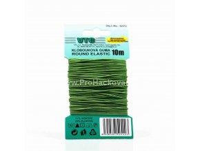 Klobouková guma 1,2 mm - na kartě jarní zelená