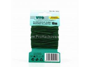 Klobouková guma 1,2 mm - na kartě zelená