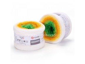 Rosegarden 303 zelená, jarní zelená, sytá oranžová, žlutá, smetanová
