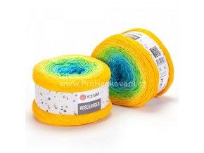 Rosegarden 310 modrá, světle modrá, jarní zelená, žlutá, oranžová