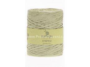 Papírová příze Paper 517 olivově zelená