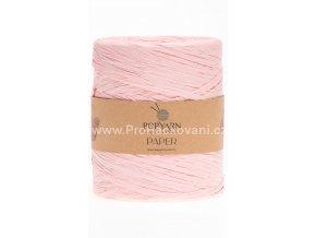 Papírová příze Paper 526 světle růžová