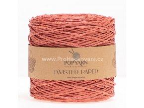 Papírová příze Twisted Paper 527 pálená cihla